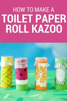 Your house is about to become a lot more musical! These DIY tutti fruitti kazoos… Your house is about to become a lot more musical! These DIY tutti fruitti kazoos are easy to make and will entertain your kids for… Continue Reading → Projects For Kids, Diy For Kids, Crafts For Kids, Music Crafts Kids, Toddler Crafts, Easy Games For Kids, Family Crafts, Easy Crafts, Paper Towel Crafts