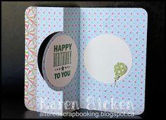 Altered Scrapbooking: Balloon Spiral Circle Pull Card