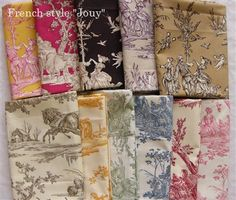 Toile in many colors and designs