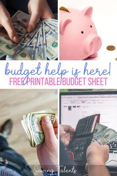 Budgeting can be hard to start. To help with that, we created a free, extremely easy printable budget that can be customized to the most simple or most detailed spending habits.  There are three different blank pages included that can be used to help you manage your finances. Frugal Family, Frugal Living Tips, Frugal Tips, Ways To Save Money, Money Saving Tips, How To Make Money, Printable Budget Sheets, Motivational Posts, Making A Budget