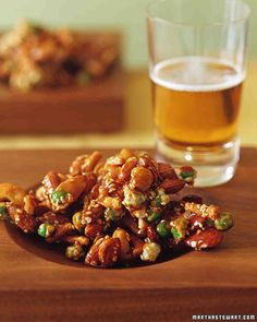 This Asian brittle combines sweet and hot flavors in each bite. Each sticky cluster includes almonds, cashews, sesame sticks, and wasabi peas and is spiced with ginger, crushed red pepper, and soy sauce.