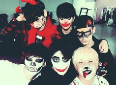 Astro Halloween everyone looks creepy..and then there's jin jin -w-