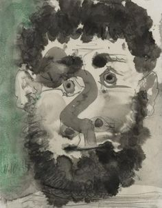 """Pablo Picasso - """"Head of a bearded man"""", 1965"""