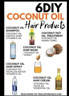 Credit: trialsntresses.com | #wittyvows #hair #hairstyles #hairgoals #hairgrowthtips #haircare #haircaretips #haircaregrowthnatural #potd #trending Coconut Oil Hair Spray, Coconut Oil Beauty, Coconut Soap, Coconut Oil Hair Mask, Coconut Oil For Acne, Coconut Oil Hair Treatment, Natural Hair Tips, Natural Hair Styles, Natural Beauty