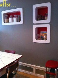 built ins for storage in wall