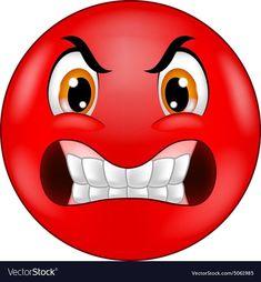 Angry smiley emoticon vector image on VectorStock Wütendes Emoji, Angry Emoji, Emoji Love, Funny Emoji Faces, Emoticon Faces, Animated Emoticons, Funny Emoticons, Smileys, Emoji Images