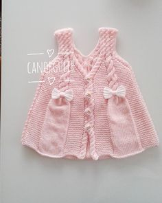 let the little princess be used on beautiful days # We seve Baby Cardigan, Baby Pullover, Embroidery On Kurtis, Kurti Embroidery Design, Knitting For Kids, Baby Knitting Patterns, Best Model, Baby Sweaters, Kind Mode