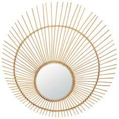 Round rattan mirror D 119 cm AMALIA