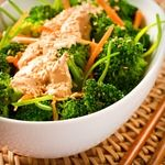 Atkins Open-Sesame Broccoli Salad. Only 2.1g Net Carbs, and a perfect way to start your meal.