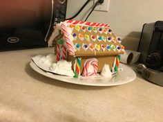 Gingerbread house by my boyfriends daughter brilliant and amazing.  She is 9 years.  I just supervised.
