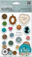 Papermania Sew Lovely Urban Stamps - Mixed Buttons (5x7):
