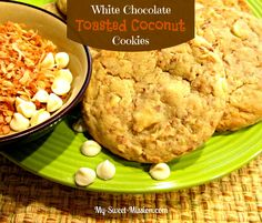 If white chocolate and coconut make your taste buds dance then you're going to LOVE my White Chocolate Toasted Coconut Cookies!
