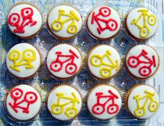 Bicycle cakes | Cakes decorated with bicycle motifs. Thanks … | Flickr