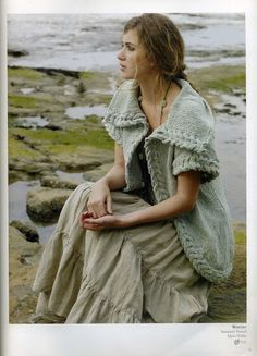 I just adore this! I AM going to knit this one day. Green Beach, Rowan, Ravelry, Marie, Bohemian, Knitting, Jackets, Tops, Arrow Keys