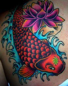 Colorful Koi Tattoo