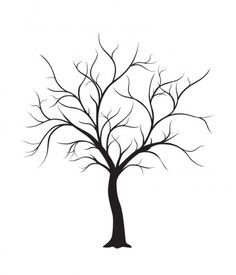 FREE Wedding Thumbprint Tree Style Guest Book 450x525 手作りのウェディングツリーに役立つ無料ベクターイラスト素材まとめ(AI・EPS・SVG)   Free Style