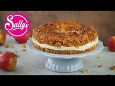 Bienenstich im Herbst / Apfel-Zimt-Torte mit Walnusskruste - YouTube