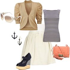 Nautical...love how the shirt and shoes match