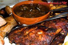 This citrus marinade can also work on small roasts. Spareribs Marinade, Rib Marinade, Duck Sauce, Spare Ribs, Hoisin Sauce, Vegetarian Paleo, Rice Vinegar, Bbq Grill, Pork Chops