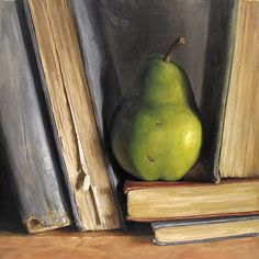 "Michael Naples, One of a Pear, 2011, Oil on Canvas, Approx 18""x18"""