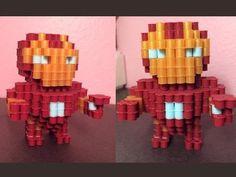 3D Perler bead Captain America! - YouTube