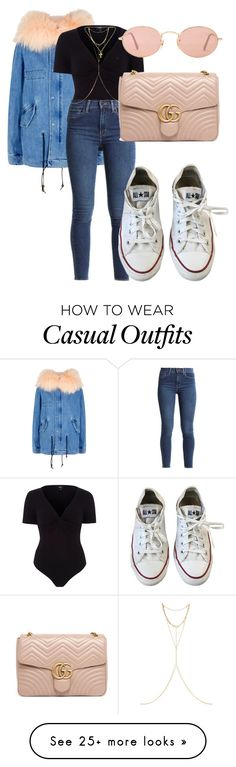 """CASUAL CHIC"" by directioner91 on Polyvore featuring Mr & Mrs Italy, River Island, Levi's, Converse, Chan Luu, Chrome Hearts, Ray-Ban and Gucci"