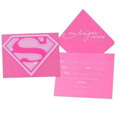 Supergirl Invitations