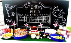 baseball chalkboard scoreboard