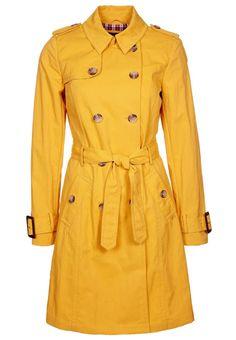 Gabardina amarilla para animar el otoño!!