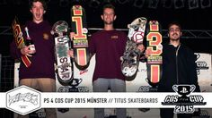 PS 4 COS Cup 2015 Münster | Titus Skateboards - http://DAILYSKATETUBE.COM/ps-4-cos-cup-2015-munster-titus-skateboards/ - Follow us now at http://www.facebook.com/titus | http://www.instagram.com/titus | http://www.titus-shop.com | Beim vorletzten Stopp des Playstation 4-COS Cup ging es zurück zu den Wurzeln der Veranstaltung in den Skaters Palace in Münster. Wie es viele aus der Bundesliga kennen, sieht die P - 2015, Münster, skateboards, Titus