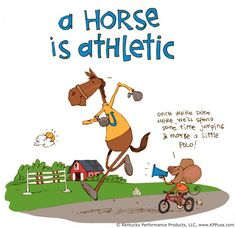 A horse is athletic! ©Kentucky Performance Products, LLC