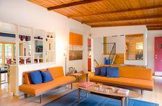 23 Fruity Orange Sofa Living Room | Home Design Lover