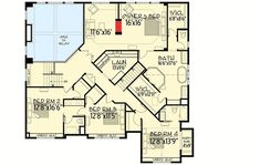 Ideas house design plans mansions master suite for 2019 Luxury House Plans, Dream House Plans, House Floor Plans, Luxury Houses, Open Family Room, Mountain House Plans, Garage Interior, Good House, Ideal House