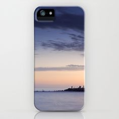Purple sunset. Mediterranean sea. iPhone & iPod Case by Guido Montañés - $35.00