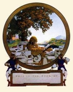 The Knave of Hearts frontispiece illustration by Maxfield Parrish