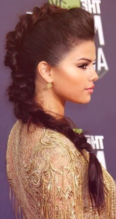 Selena Gomez Warrior hair