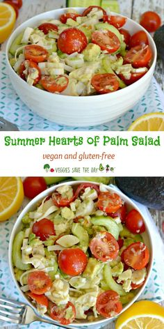 Summer Hearts of Palm Salad is a refreshing and healthy. You only need a few ingredients to make it. Enjoy it as a starter, a side dish, or bring it to your next potluck! (vegan and gluten-free)