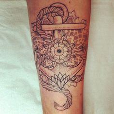 Anchor tattoo by Alex M Krofchak. Forearm. Dotwork. Neotraditional. Dotshaded. Mandala. Traditional.