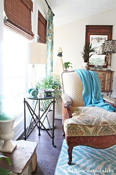 Olivia Mirrored Side Table by Ballard Designs  I  via Rhoda Vickers @ Southern Hospitality Blog