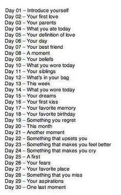 30 days of prompts