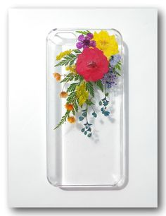 Handmade iPhone 5 case Resin with Real Flowers  by Annysworkshop, $18.00