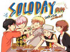 Tags: Anime, Pixiv Id 4909838, Cnu, Sandeul, Baro (B1a4), Gongchan, Jinyoung