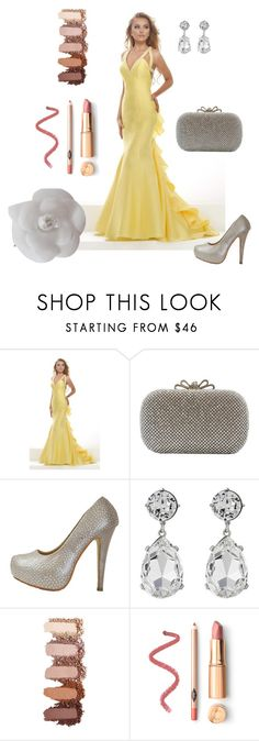 """""""Bright Sunny Gown"""" by chicastic ❤ liked on Polyvore featuring Janique, Kenneth Jay Lane and Chanel"""