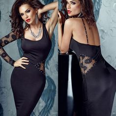 Buy here: http://www.tomtop.com/sexy-women-u-neck-lace-sleeve-rhinestone-embellished-backless-party-bodycon-midi-dress-g1645b.html?aid=bty35