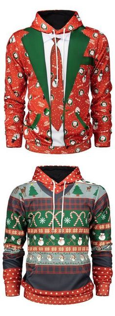 Christmas Graphic Print Pullover Hoodie