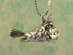 Cowfish Charm Pendant by martymagic on Etsy, $60.00