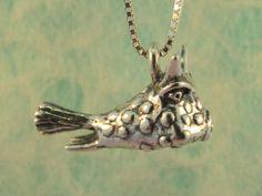 Cowfish Charm Pendant by martymagic on Etsy, $60.00