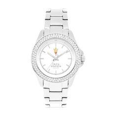 Arizona State Sun Devils Jack Mason Brand Women's Glitz Sports Watch - Silver Tone - $135.00