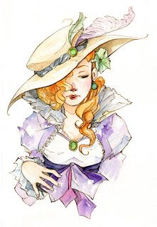 Watercolor of Judith.