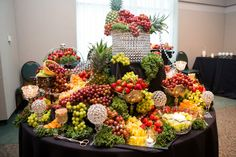 FRUIT BUFFET TABLE IDEAS FOR WEDDING RECEPTIONS | Dress up the Buffet